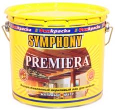 Шелковисто-матовый лак для мебели Премьера (Symphony Premiera)