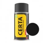 Краска-спрей термостойкая Церта Чёрная полуглянец 800° (Certa)